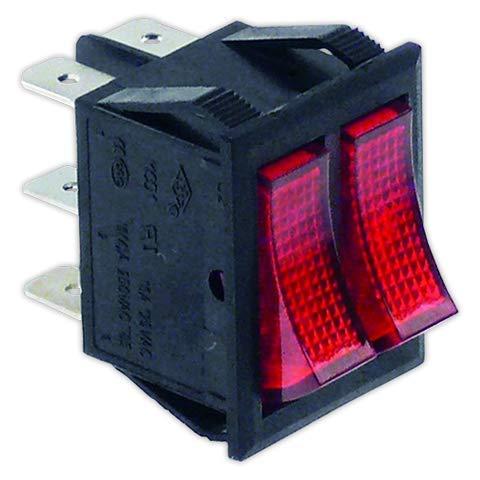 DOJA Industrial   Interruptor doble 22x30 mm I rojo   Interruptores Con...