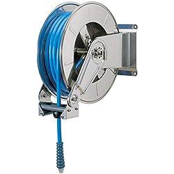 Forum Equipement - Enrouleur Automatique pour Passage Hydraulique - Tuyau 20 Mètres - Support en INOX