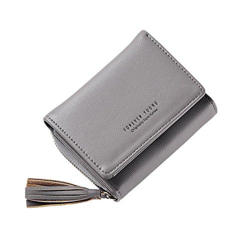 Portemonnaie Kurz Brieftasche Kartenhalter Reißverschluss Geldbörse Damen Kleine Clutch Handtasche ()