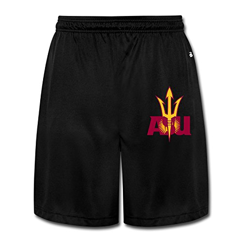 CYANY Arizona State University ASU atmungsaktiv Athletic Bergsteigen Performance Herren Shorts Sweatpants, Herren, schwarz