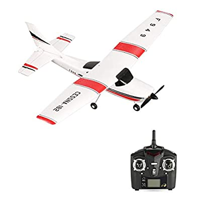 Monllack WLtoys F949 3 Channel 2.4GHz Radio Control RC Airplane Fixed Wing RTF CESSNA-182 Plane Outdoor Drone Toy for Ages 14+ Children