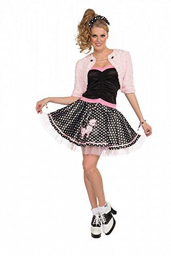 50er Jahre Petticoat Kostüm mit Pudel Plüsch Bolero Polka Dots Rockabilly Gr. S (Pudel 50er Jahre)