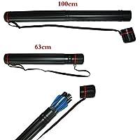 Kunzite negro tubo carcaj flecha aljaba tiro con arco tubo ajustar longitud 63A 100cm, adecuado para cualquier tamaño de flecha