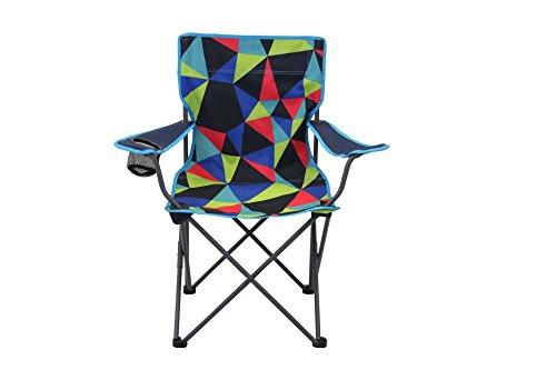 Portail extérieur Unisexe Electro Dub Pliable Chaise de Camping, Multicolore, 51 x 41 x 45 cm