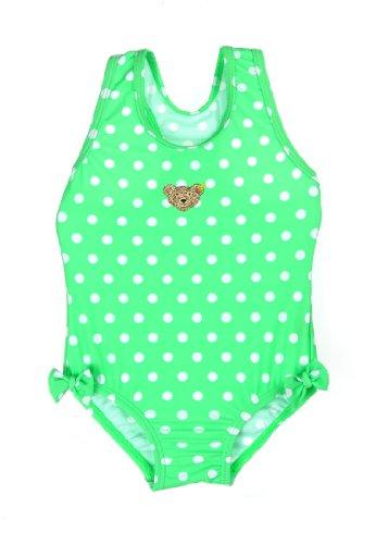 Steiff Baby - Mädchen Einteiler Badeanzug, Gepunktet, Gr. 92, Grün (Absinthe Green Green)