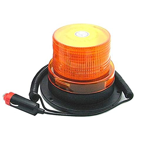 LEDHOLYT 3w LED Warning Emergency Security Strobe Flash Car Light Magnet Base Amber(Yellow) Light Color DC 12v