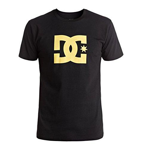 DC Shoes Star Short–Maglietta per uomo, colore: Cioccolato scuro/Giallo Black/Chardonnay