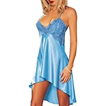 RZS Pigiama Donna Lace Lingerie Esotico Pizzo e Mesh Babydoll Set Sling Intimo Confortevole - Baby Doll Sling