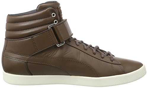 Puma Modern Court Hi Citi Series, Baskets hautes mixte adulte Marron - Braun (carafe-whisper white 03)