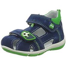 Superfit Baby Boys' Freddy Sandals, Blue Blue Green 80, 7 UK