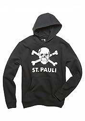 St. Pauli - Totenkopf, Girl-Kapu, Farbe: Schwarz, Größe: M
