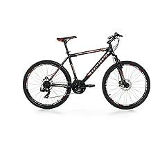 "Moma - Bicicleta Montaña Mountainbike 26"" BTT SHIMANO, aluminio, doble disco y suspensión, L (1,70-1,79m)"