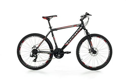 "Moma Bikes Bicicleta Montaña Mountainbike 26"" BTT SHIMANO 24 vel. Aluminio, frenos de disco y suspension, XL (1,80-1,95m)"