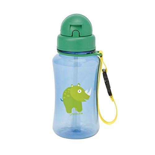 Lässig Kinder Trinkflasche mit Strohhalm, Wildlife Rhino