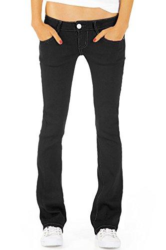 Bestyledberlin Damen Jeans hüftige Jeanshosen, Bootcutjeans low rise Hüftjeans Stretch Hose j46kw 38/M Low Stretch Bootcut Jeans