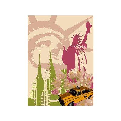 Renkalik renkalikqsipr12335x 50cm, diseño de Nueva York de Seda impresión Hoja de Papel (Juego de)