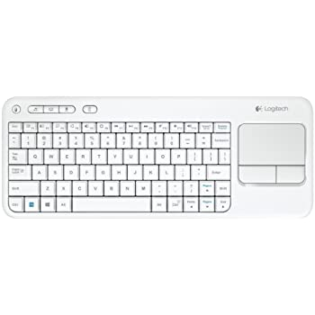 buy logitech wireless touch keyboard k400 with built in multi touch touchpad white. Black Bedroom Furniture Sets. Home Design Ideas