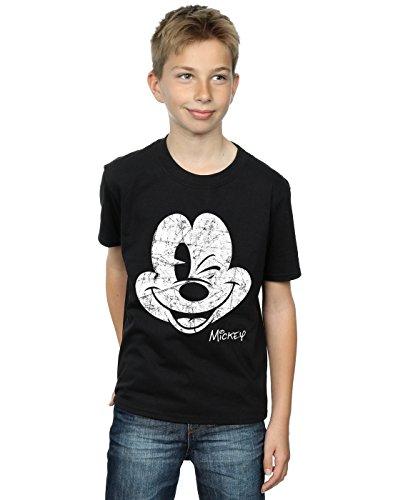 Disney niños Mickey Mouse Distressed Face Camiseta