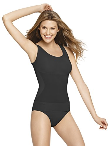 Jockey Women's Polyamide Seamless Shaping Tank Top (6706_Black_XL)
