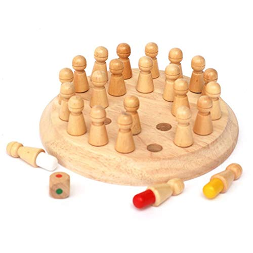 Rekkles Wooden Round Memory Match Stick Chess Game Toys Wood Children Kids Early Educational Blocks Toy Birthday Gift