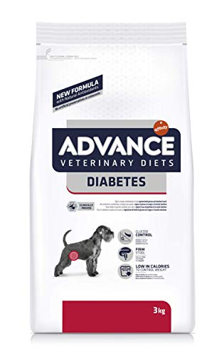 Advance Veterinary Diets pienso para Perro Diabetes Colitis 3 kg – Pack de 5