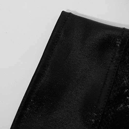 URSING Frauen Unterwäsche Transparenter Spitze Underwear Lingerie Thongs Schöne Elegante String Gemütlich Lackleder Bikinislip Panty Sexy Unterhose Knickers - 6