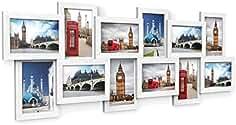 SONGMICS Marco de Fotos Collage para 12 Fotos de 10 x 15 cm, Hecho de