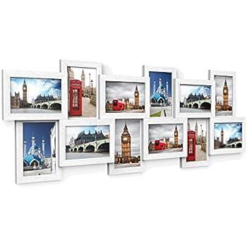 Songmics cornice multipla per 12 foto portafoto da parete - Cornici da parete per foto ...
