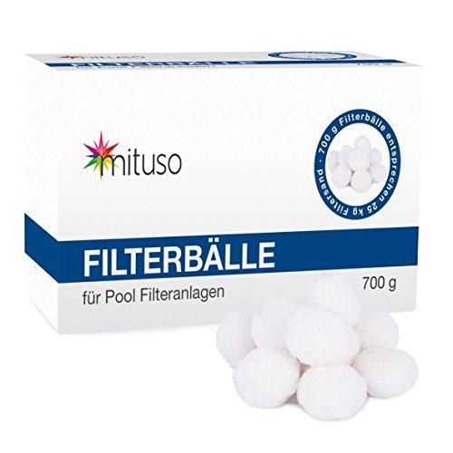 mituso Filterbälle, Filterballs, Filteranlagenzubehör, Alternative zum Quarzsand, 700g