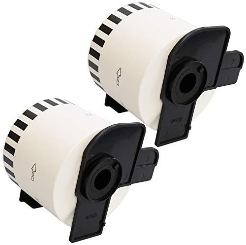 Prestige Cartridge 2x DK22205 62mm x 30.48m Endlos-Etiketten für Brother P-Touch QL-500 QL-550 QL-560 QL-570 QL-580 QL-700 QL-720 QL-800 QL-810 QL-820 QL-1050 QL-1060 QL-1100 QL-1110 Etikettendrucker