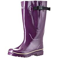 Extra Wide Calf Wellies for Women - Fit 40 to 57cm Calf - Wide in The Foot and Ankle - 5 Designs (Purple 6)