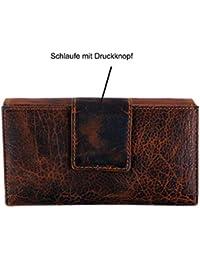 e60d24a6e60e0c Geldbörse für Damen Echt-Leder Großer Geldbeutel mit RFID Schutz XL  Portemonnaie in hochwertiger Geschenk
