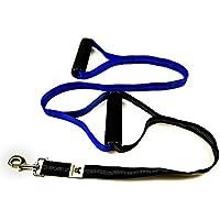 [Gesponsert]Doppelgriff Hundeleine mit 2 Handgriffen für mehr Sicherheit und kräftige Hunde sowie zur Hundeerziehung / Hundetraining von Hundefreund (Blau)