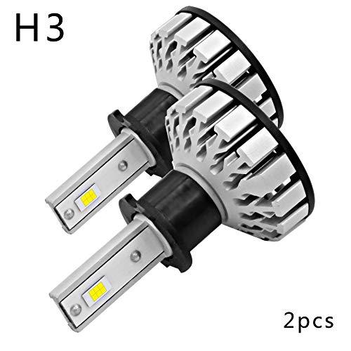 H3 R8 Car LED Lampadina-50W 12000Lm 6000K Super Bright White Light Impermeabile IP68 Con Chip Philips DC9-12V Sostituire Per Alogeni O HID Lampadina Esterna Proiettore (Confezione Da 2)