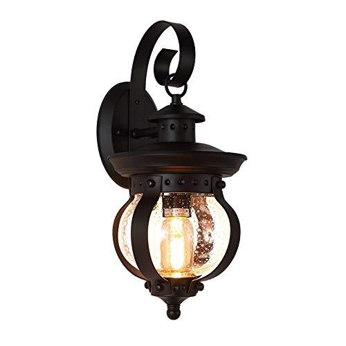 Roll-ss Rustikale Außenwandleuchte LED Bronze hängende Laterne Wandleuchte Leuchte for Haus Deck Veranda Terrasse -