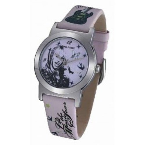 Time Force Hm1010–Orologio con cinturino in pelle per donna, colore: rosa/grigio