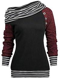 Amazon.es  Camisas De Rayas Mujer - M   Sudaderas sin capucha ... 45e85c2f4bb8