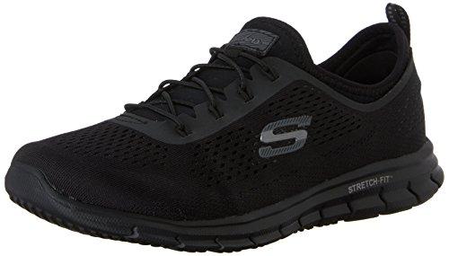 Skechers Damen Glider - Harmony Sneakers Schwarz (BBK) 38 EU - Fuß-glider