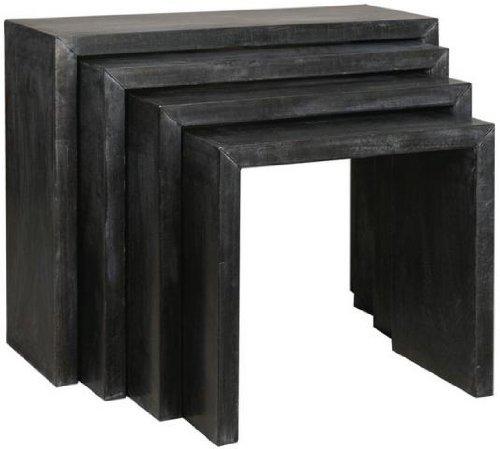 Nesting Table Geschirre in schwarz Zink