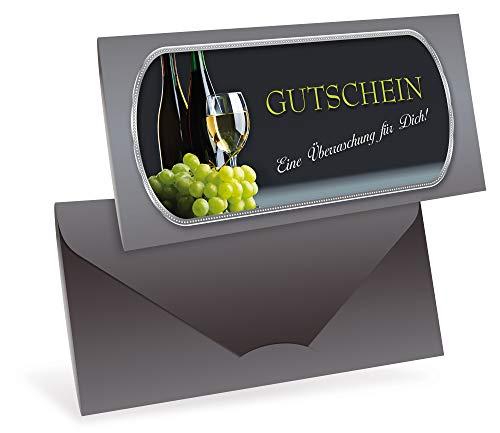 Gutscheinkarten (10 Stück) - Geschenkgutschein für Gastronomie, Restaurant, Weinhandel - DIN lang...