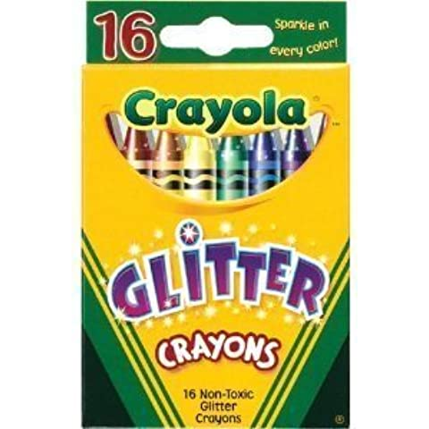 Crayola? - Glitter Crayons, 16 Colors/Box - Sold As 1 Set - Sparkling glitter colors. by Binney & Smith / Crayola Products