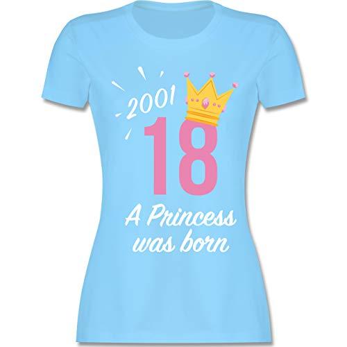 Geburtstag - 18 Geburtstag Mädchen Princess 2001 - S - Hellblau - L191 - Damen Tshirt und Frauen T-Shirt -