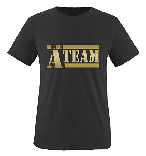 Frisuren Gangster (A-TEAM - Herren T-Shirt in Schwarz / Gold Gr.)