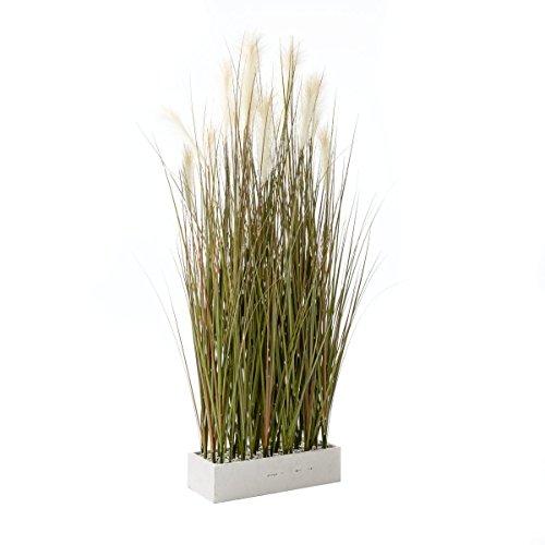 Kunstpflanze Gras - Raumteiler - Grün Weiß - Höhe ca. 153 cm