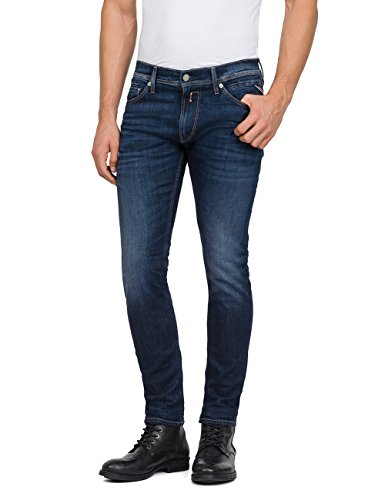 Replay Herren JONDRILL Skinny Jeans, Blau (Dark Blue Denim 7), W30/L32 Dark Blue Denim