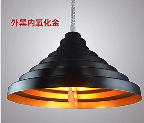Baredury  Telescopic Light Tensile Strength Light Modern Chandelier Chess Mahjong Lamp Chandelier Aluminum Head Single Light Trailer Up,Free Black Oxide
