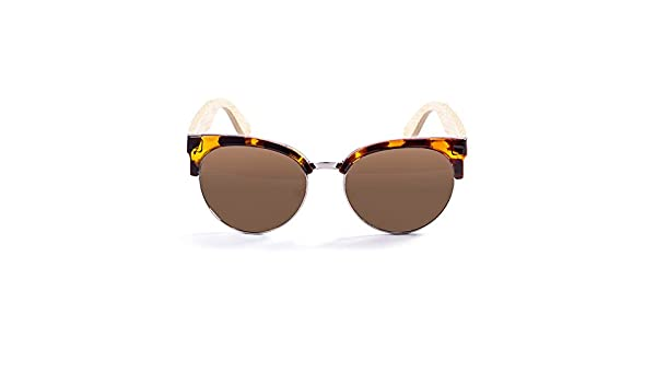 OCEAN SUNGLASSES Medano Lunettes de Soleil Mixte Adulte, Bamboo Brown Frame/Wood Natural Arms/Brown Lens