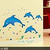 XWH Salle de Bain Salle de Bain carrelage Verre Bande dessinée Stickers muraux Chambre d'enfants Maternelle décoration Murale Autocollants Auto-adhésif étanche,B,1
