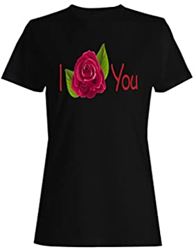 Te amo rosa novedad divertida vintage arte camiseta de las mujeres zz55f