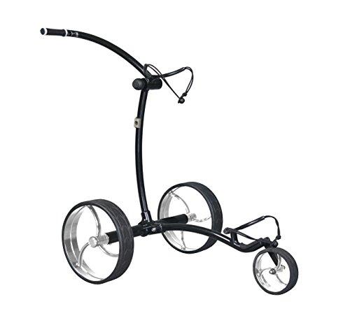 Tour Made RT-650LI PRO Quickfold Lithium Elektro Golftrolley - mit elektronischer Bergabfahrbremse - Gewicht nur 8,9kg - Rahmen schwarz